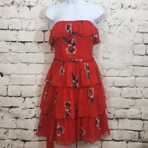 NW White House Black Market red floral dress